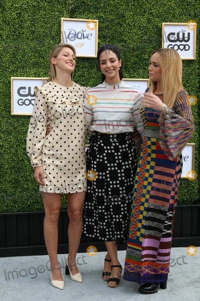 ASH Photo - LOS ANGELES - OCT 14  Melissa Benoist Tala Ashe Caity Lotz at the CW Networks Fall Launch Event  at the Warner Brothers Studios on October 14 2018 in Burbank CA