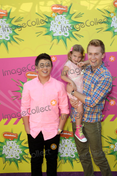 Mia Talerico Photo - LOS ANGELES - MAR 23  Bradley Steven Perry Mia Talerico Jason Dolley arrives at Nickelodeons 26th Annual Kids Choice Awards at the USC Galen Center on March 23 2013 in Los Angeles CA