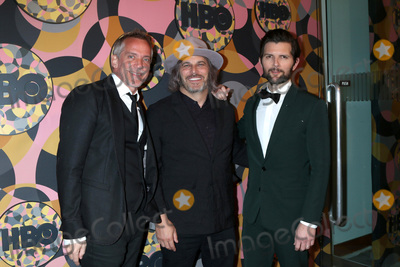 Adam Scott Photo - LOS ANGELES - JAN 5  Jean-Marc Vallee Nathan Ross and Adam Scott at the 2020 HBO Golden Globe After Party at the Beverly Hilton Hotel on January 5 2020 in Beverly Hills CA