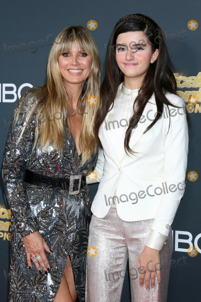 Heidi Klum Photo - LOS ANGELES - OCT 21  Heidi Klum Angelina Jordan at the Americas Got Talent - Champions Finalist Red Carpet at the Sheraton Pasadena Hotel on October 21 2019 in Pasadena CA