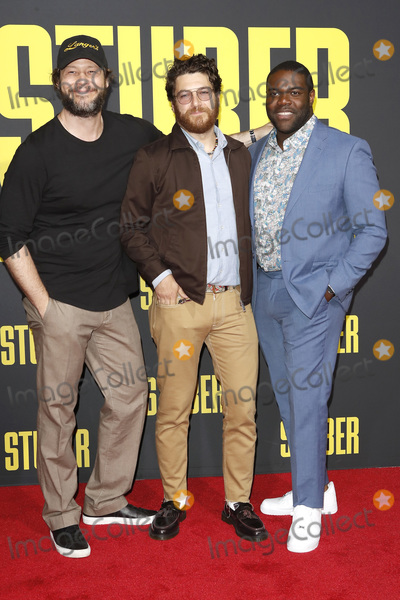 Adam Pally Photo - LOS ANGELES - JUL 10  Ike Barinholtz Adam Pally Sam Robertson at the Stuber Premiere at the Regal LA Live on July 10 2019 in Los Angeles CA