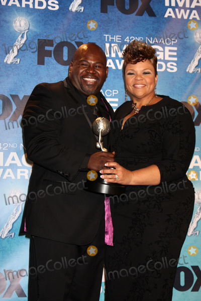 David Mann Photo - LOS ANGELES -  4 David Mann Tamela J Mann in the Press Room of the 42nd NAACP Image Awards at Shrine Auditorium on March 4 2011 in Los Angeles CA