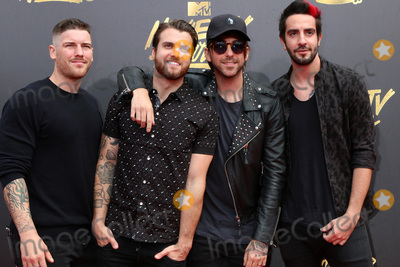 Jack Barakat Photo - LOS ANGELES - MAY 7  All Time Low Zack Merrick Rian Dawson Alex Gaskarth Jack Barakat at the MTV Movie and Television Awards on the Shrine Auditorium on May 7 2017 in Los Angeles CA
