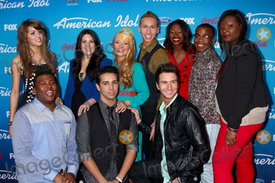 Angie Miller Photo - LOS ANGELES - MAR 7  (Top L-R) Finalists Angie Miller Kree Harrison Janelle Arthur Devin Velez Amber Holcomb Burnell Taylor Candice Glover (Bottom L-R) Curtis Finch Jr Lazaro Arbos and Paul Jolley arrives at the 2013 American Idol Finalists Party at the The Grove on March 7 2013 in Los Angeles CA