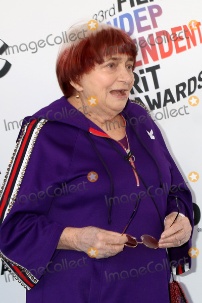Agns Varda Photo - LOS ANGELES - MAR 3  Agnes Varda at the 2018 Film Independent Spirit Awards at the Beach on March 3 2018 in Santa Monica CA