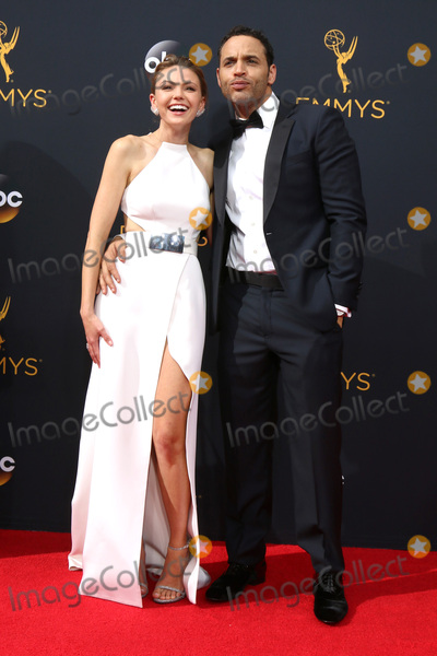 Daniel Sunjata Photo - LOS ANGELES - SEP 18  Aimee Teegarden Daniel Sunjata at the 2016 Primetime Emmy Awards - Arrivals at the Microsoft Theater on September 18 2016 in Los Angeles CA