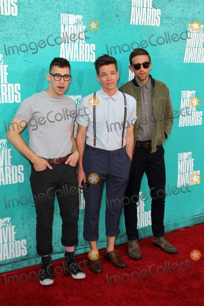 Andrew Dost Photo - LOS ANGELES - JUN 3  Jack Antonoff Nate Ruess and Andrew Dost of Fun arriving at the 2012 MTV Movie Awards at Gibson Ampitheater on June 3 2012 in Los Angeles CA