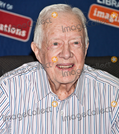 Jimmy Carter Photo - PHILADELPHIA PA USA - JULY 10 Former President Jimmy Carter Signs His New Book A Full Life Reflections at Ninety at The Free Library of Philadelphia on July 10 2015 in Philadelphia Pennsylvania United States (Photo by Paul J FroggattFamousPix)