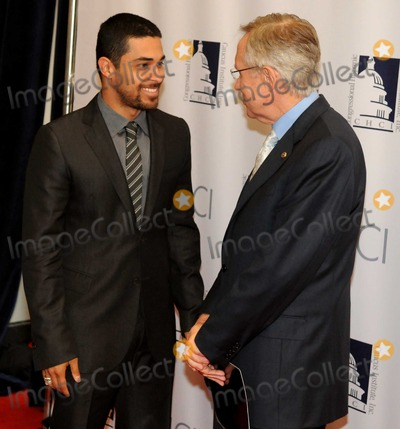 Harry Reid Photo - Washington DC 9152010RESTRICTED NEW YORKNEW JERSEY OUTNO NEW YORK OR NEW JERSEY NEWSPAPERS WITHIN A 75  MILE RADIUSCongressional Hispanic Caucus Institute gala red carpet(left) Actor Wilmer Valderrama speaks with Senate Majority Leader Harry Reid (D-NV) on the red carpet for the Congressional Hispanic Caucus Institute annaual gala in Washington DCDigital photo by Elisa Miller-PHOTOlinknet