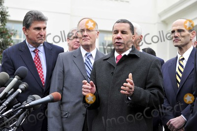 David A Paterson Photo - Washington DC - February 22 2009 -- Governor David A Paterson (Democrat of New York) speaks to reporters after he and his fellow governors met United States President Barack Obama at the White House in Washington DC on Monday February 22 2010  From left to right Governor Joe Manchin (Democrat of West Virginia) Governor Jim Douglas (Republican of Vermont) Chairman National Governors Association (NGA) Governor Paterson Governor Charlie Crist (Republican of Florida) and Governor John Baldcci (Democrat of Maine)Photo by Ron Sachs-CNP-PHOTOlinknet