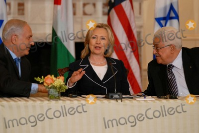 Mahmoud Abbas Photo - Washington DC 9022010RESTRICTED NEW YORKNEW JERSEY OUTNO NEW YORK OR NEW JERSEY NEWSPAPERS WITHIN A 75  MILE RADIUSSecretary Clinton hosts Abbas and Netanyahu peace talksSecretary of State Hillary Clinton hosts the re-launch of direct negotiations between Israeli Prime Minister Benjamin Netanyahu and Palestinian Authority President Mahmoud Abbas at the US State Department (center) Secretary Clinton (left) Netanyahu and (right) Abbas start with opening remarks to the media to mark the start of the negotiationsDigital photo by Elisa Miller-PHOTOlinknet