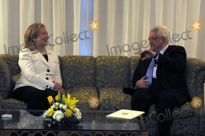 Mahmoud Abbas Photo - United States Secretary of State Hillary Rodham Clinton meets with President Mahmoud Abbas of the Palestinian Authority in Sharm El Sheikh Egypt on Tuesday September 14 2010 Photo by Department of StateCNP-PHOTOlinknet