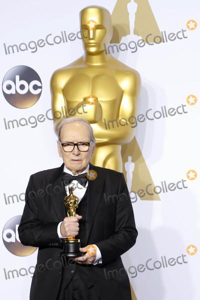Ennio Morricone Photo - Photo by REWestcomstarmaxinccomSTAR MAXCopyright 2016ALL RIGHTS RESERVEDTelephoneFax (212) 995-119622816Ennio Morricone at the 88th Annual Academy Awards (Oscars)(Hollywood CA USA)