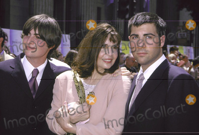Talia Shire Photo - Star Max Inc 2001Photo by Russ Einhorn-72901The Princes Diaries   PremiereEl Capitan TheatreHollywood CaliforniaTalia Shire and her sons Robert left and Jason on the right