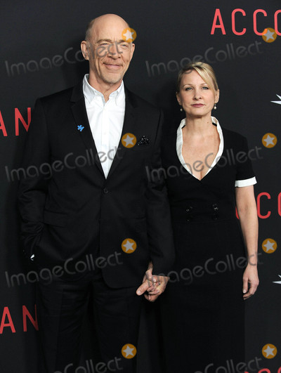 J K Simmons Photo - Photo by KGC-11starmaxinccomSTAR MAX2016ALL RIGHTS RESERVEDTelephoneFax (212) 995-1196101016JK Simmons and Michelle Schumacher at The Premiere of The Accountant(Los Angeles CA)