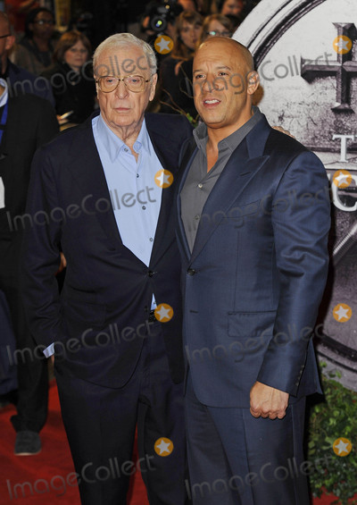 Michael Caine Photo - Photo by KGC-138starmaxinccomSTAR MAXCopyright 2015ALL RIGHTS RESERVEDTelephoneFax (212) 995-1196101915Sir Michael Caine and Vin Diesel at the premiere of The Last Witch Hunter(London England UK)