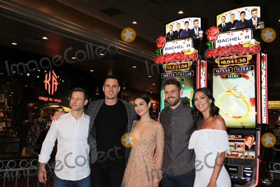 The Bachelors Photo - Photo by Raoul GatchalianstarmaxinccomSTAR MAX2018ALL RIGHTS RESERVEDTelephoneFax (212) 995-119651718THE BACHELOR slot machine unveiling at MGM Grand Hotel  Casino Las Vegas Nevada May 17 2018picture L-R  JAKE PAVELKA BEN HIGGINS ASHLEY I NICK VIALL BECCA KUFRIN