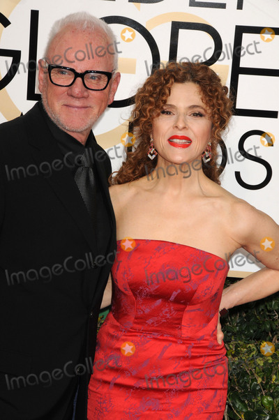 Bernadette Peters Photo - Photo by GalaxystarmaxinccomSTAR MAXCopyright 2017ALL RIGHTS RESERVEDTelephoneFax (212) 995-11961817Malcolm McDowell and Bernadette Peters at the 74th Annual Golden Globe Awards(Beverly Hills CA)