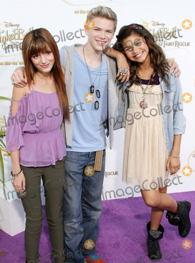 Bella Thorne Photo - Bella Thorne Kenton Duty and Zendaya Coleman pose on the purple carpet after arriving for a special Picnic In The Park premiere of Tinker Bell and the Great Fairy Rescue held at La Cienega Park Los Angeles CA 082810