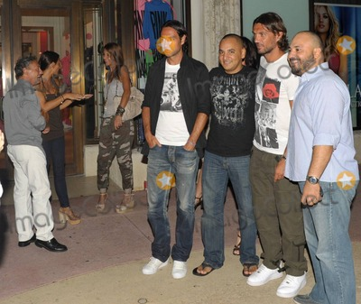 Paolo Maldini Photo - EXCLUSIVE Italian footballers Paolo Maldini and Alessandro Nesta happily pose with fans and for photographers while out for the evening on Lincoln Road with their wives Adriana Maldini and Gabriela Pagnozzi Miami Beach FL  070910 Fees must be agreed prior to publication