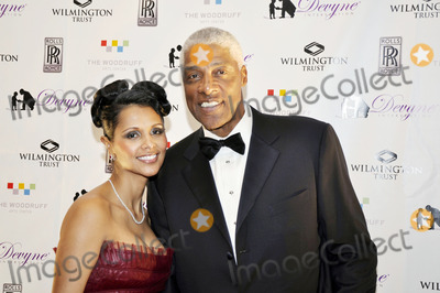Julius (Dr J) Erving Photo - ATLANTA - DECEMBER 22 ( L-R) Dorys Erving and former NBA player and Hall of Famer Julius Dr J Erving attend  This Christmas Holiday Gala at The Woodruff Arts Center Galleria l December 22 2011 in Atlanta Georgia (Moses RobinsonImage Collectcom)