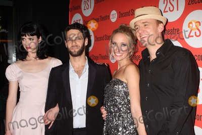 Anna Camp Photo - Krysten Ritter Justin Bartha Anna Camp and David Wilson Barnes Arriving at the Opening Night Party For Second Stage Theatres Production of All New People at Hb Burgers in New York City on 07-25-2011 Photo by Henry Mcgee-Globe Photos Inc 2011