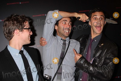 Ariel Schulman Photo - Directors Henry Joost and Ariel Schulman with Yaniv Schulman Arriving at a Super Fan Screening of Paranormal Activity 3 at Regal Union Square Stadium 14 in New York City on 10-18-2011 Photo by Henry Mcgee-Globe Photos Inc 2011