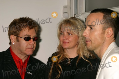 Elton John Photo - Opening Reception of Andy Warhol Late Paintings and Helmut Newton Photographs at Gagosian Gallery Beverly Hills California 02262004 Photo by Henry McgeeGlobe Photos Inc 2004 Elton John Cornelia Guest and David Furnish