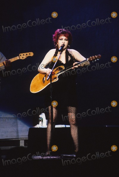 Tina Turner Photo - Cyndi Lauper (5 Mths Pregnant) Tina Turner in Concert at Radio City 1997 K9441hmc Photo by Henry Mcgee-Globe Photos Inc