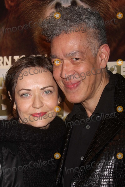 Andres Serrano Photo - Irina Movmyga and Andres Serrano Arriving at a Screening of Imax and Warner Bros Pictures Born to Be Wild 3d at Amc Lincoln Square in New York City on 04-07-2011 photo by Henry Mcgee-globe Photos Inc 2011