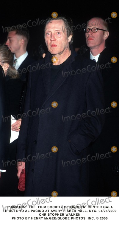 Al Pacino Photo -  the Film Society of Lincoln Center Gala Tribute to AL Pacino at Avery Fisher Hall NYC 04252000 Christopher Walken Photo by Henry McgeeGlobe Photos Inc