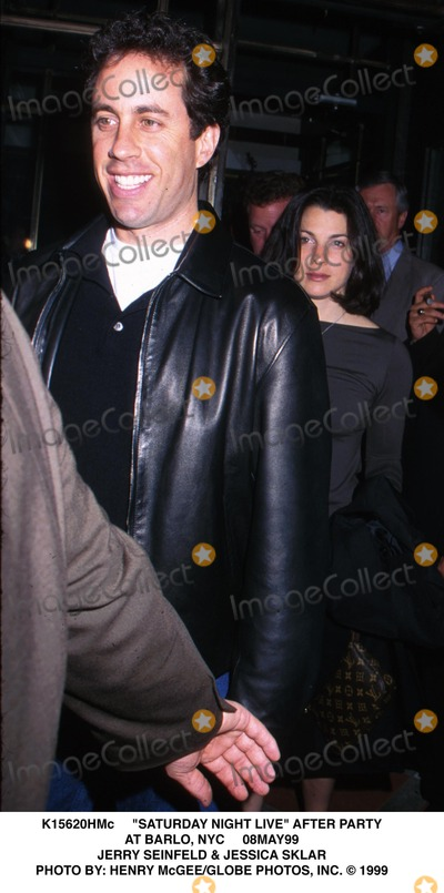 Jerry Seinfeld Photo - Saturday Night Live After Party at Barlo NYC 08may99 Jerry Seinfeld  Jessica Sklar Photo by Henry McgeeGlobe Photos Inc