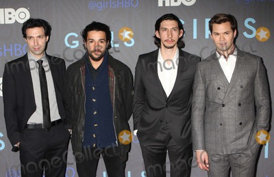 Alex Karpovsky Photo - Alex Karpovsky Christopher Abbott Adam Driver and Andrew Rannells Arriving at the Premiere of Hbos Girls Season 2 at Nyu Skirball Center in New York City on 01-09-2013 Photo by Henry Mcgee-Globe Photos Inc 2013