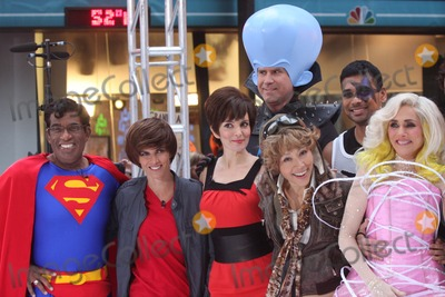Amelia Earhart Photo - New York NY 10-29-2010Al Roker (dressed as Superman) Natalie Morales (dressed as Justin Bieber) Tina Fey with Will Ferrell (dressed as Roxanne Ritchi and Megamind from Dreamworks MEGAMIND) Ann Curry (dressed as Amelia Earhart) and Meredith Vieira (dressed as Lady Gaga) on NBCs TODAY Show annual Halloween celebration outside on Rockefeller PlazaDigital photo by Lane Ericcson-PHOTOlinknet