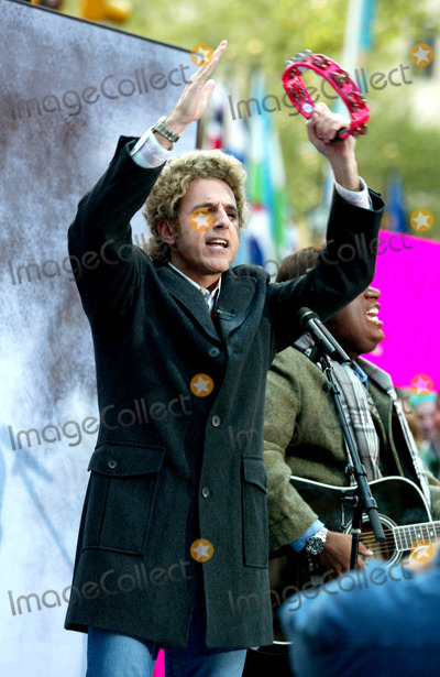 Al Roker Photo - Matt Lauer (Dressed As Art Garfunkel) at Nbcs Today Show Annual Halloween Contest in Rockefeller Plaza at the NBC Studios on October 31 2003 Photo Henry McgeeGlobe Photos Inc 2003