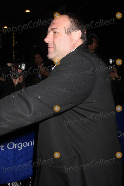 August Wilson Photo - NYC  042610James Gandolfini at the rainy Broadway opening of August Wilsons Fences at the Cort TheatreDigital Photo by Adam Nemser-PHOTOlinknet