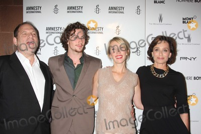 Aaron Johnson Photo - NYC  092110Harvey Weinstein Aaron Johnson and fiancedirector Sam Taylor-Wood and Kristin Scott Thomas at a screening of their new movie Nowhere Boy at the Tribeca Performing Arts CenterPhoto by Adam Nemser-PHOTOlinknet