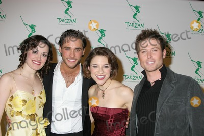 ASHLEY BROWN Photo - NYC  051006Josh Strickland and Jenn Gambatese (centered both in TARZAN) with Ashley Brown (left Beauty and the Beast) and Jacob Young (right Beauty and the Beast) at the opening night party for the new Broadway musical TARZAN presented by Disney at the Marriott MarquisDigital Photo by Adam Nemser-PHOTOlinknet