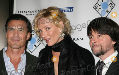 Andre Balazs Photo - NYC  012307Host Uma Thurman with boyfriend Andre Balazs and Ken Burns at an auction to benefit ROOM TO GROW a non-profit organization dedicated to enriching the lives of babies born into poverty at Christies New YorkDigital Photo by Adam Nemser-PHOTOlinknet
