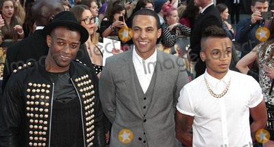 JLS Photo - Aug 20 2013 - London England UK - One Direction This Is Us World Premiere Empire Leicester SquarePhoto Shows Oritse Williams Marvin Humes and Aston Merrygold of JLS