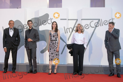 Nicole Garcia Photo - VENICE ITALY - SEPTEMBER 03 Pierre Niney Stacy Martin Benoit Magimel and Nicole Garcia walk the red carpet ahead of the movie Amants at the 77th Venice Film Festival at on September 03 2020 in Venice Italy (Photo by Laurent KoffelImageCollectcom)
