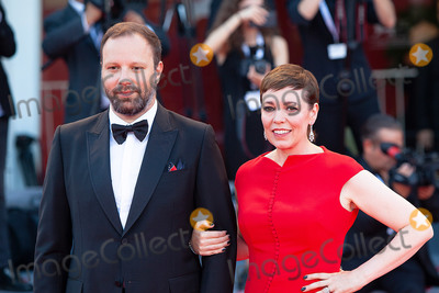 Yorgos Lanthimos Photo - VENICE ITALY - SEPTEMBER 08 Yorgos Lanthimos and Olivia Colman walk the red carpet ahead of the Award Ceremony during the 75th Venice Film Festival at Sala Grande on September 8 2018 in Venice Italy(Photo by Laurent KoffelImageCollectcom)