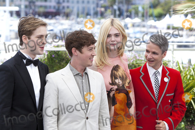 Alex Sharp Photo - CANNES FRANCE - MAY 21 AJ Lewis Alex Sharp Elle Fanning and director John Cameron Mitchell attend the How To Talk To Girls At Parties photocall during the 70th annual Cannes Film Festival at on May 21 2017 in Cannes France (Photo by Laurent KoffelImageCollectcom)