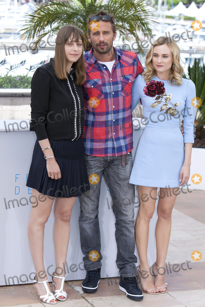 Alice Winocour Photo - CANNES 16 MAY Director Alice Winocour Actress Diane Kruger and Actor Matthias Achoenaerts attend the Disorder Photocall during the 68th Annual Cannes Film Festival on May 16 2015 in Cannes France(Photo by Laurent KoffelImageCollectcom)