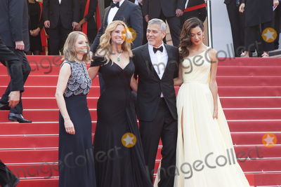 Amal Clooney Photo - CANNES FRANCE - MAY 12  Jodie Foster Julia Roberts George Clonney and his wife Amal Clooney attend the Money Monster premiere during the 69th annual Cannes Film Festival at the Palais des Festivals on May 12 2016 in Cannes France(Photo by Laurent KoffelImageCollectcom)