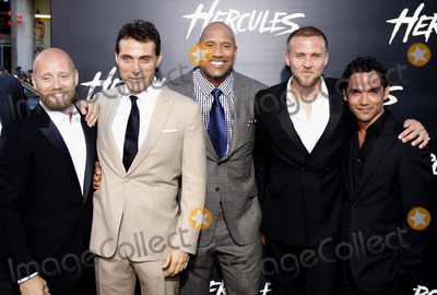 Tobias Santelmann Photo - Aksel Hennie Rufus Sewell Dwayne Johnson Tobias Santelmann and Reece Ritchie at the Los Angeles premiere of Hercules held at the TCL Chinese Theatre in Los Angeles on July 23 2014 in Los Angeles California Credit PopularImages