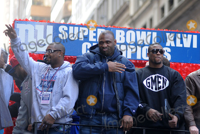 Ahmad Bradshaw Photo - Ahmad Bradshaw and Brandon Jacobs attend the Giants Victory Parade for Super Bowl XLVI on February 7 2012 in New York City