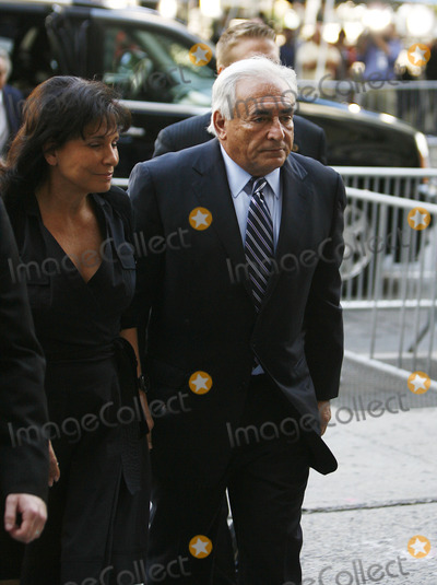 Anne Sinclair Photo - Former IMF director Dominique Strauss-Kahn arriving at the Manhattan State Supreme Court with his wife Anne Sinclair on August 23 2011 in New York City The criminal sexual assault charges against Strauss-Kahn were dropped