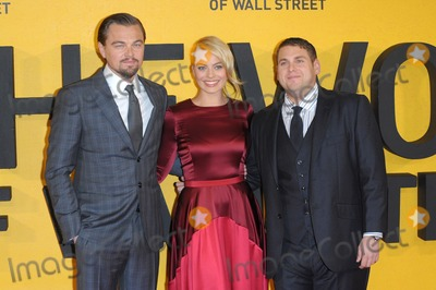 Margot Robbie Photo - January 9 2014 LondonLeonardo DiCaprio Margot Robbie and Jonah Hill arriving at the UK Premiere of The Wolf of Wall Street at the Odeon Leicester Square on January 9 2014 in London England