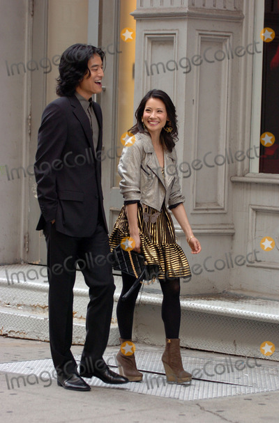 Jack Yang Photo - Actors Jack Yang and Lucy Liu were on the set of the new Television show Cashmere Mafia in Soho downtown Manhattan